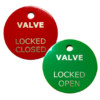 Stainless Steel Valve Closed and Open Tag